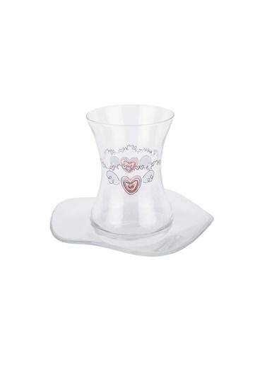 Tantitoni 12 Parça Flırty Heart Çay Bardağı Takımı Renkli